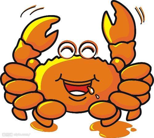 螃蟹简笔画彩色